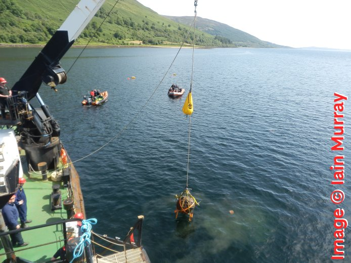 Highball being lifted from the loch